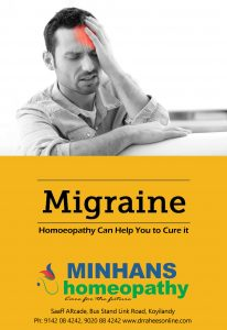 Migrain Homeopathy can help you to cure it.